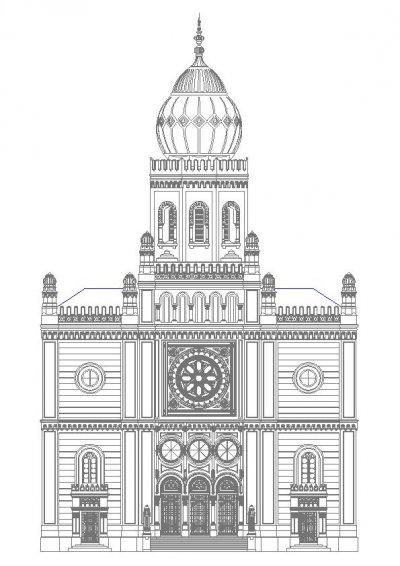 Templom_homlokzat_felmérés